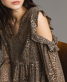 Abito in georgette animalier Stampa Maculata Mix Donna 191TP2722-04