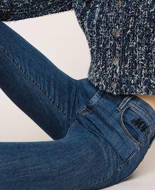 Five-pocket skinny jeans Denim Blue Woman 201MP2321-04