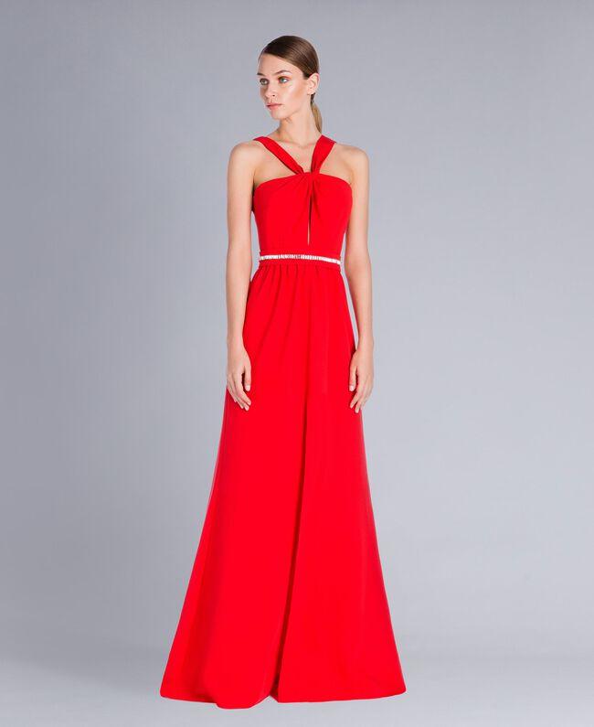 Robe longue Rouge NCN2CB-01