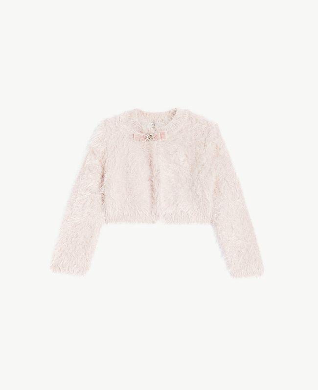 Schulterjacke aus Lurex Rosa Pfirsichblüte Weiblich FA73EN-01