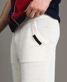 Cotton-blend Bermuda shorts Matte White Man 191UT3084-04