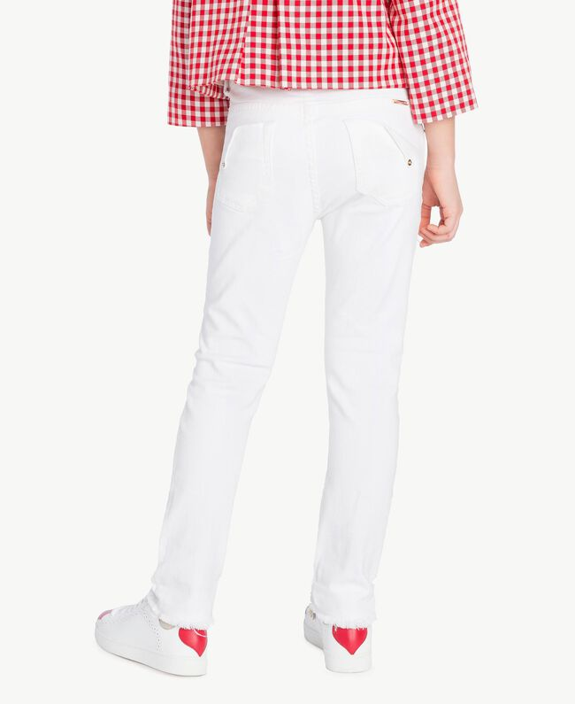 "Pantalon skinny Blanc ""Papers"" Enfant GS82CA-04"