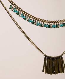 Collier de perles et pendentifs Or «Laiton Vieilli Cuivré» Femme 201TO530D-02