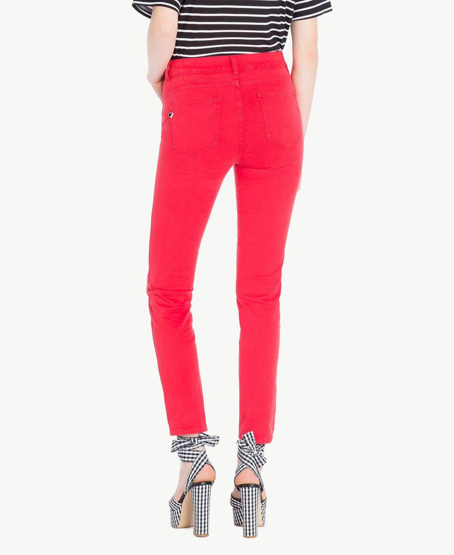 Pantalon skinny Rouge Vermillon Femme JS82Z1-03