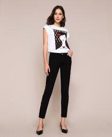 Push up jeans with sequins Black Denim Woman 201MP2261-02