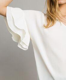 Bluse aus Seidenmischung Weiß Schnee Frau 191TT2075-04