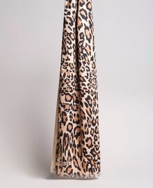 Sciarpa a stampa animalier Stampa maculata Grande Nudo Donna 191TA436B-03
