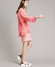 "Cashmere blend cardigan ""Wild Rose"" Pink Woman 191TP3064-02"