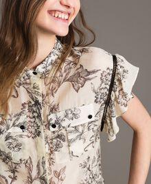 Hemd aus Seidenmischung mit Print Motiv Toile De Jouy Schwarz Frau 191TT2403-04