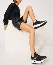 Кроссовки с ювелирной пряжкой Черный женщина 202TCP012-0S