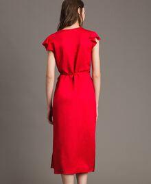 """Envers satin linen long dress """"Lipstick Red"""" Woman 191TT2303-04"""