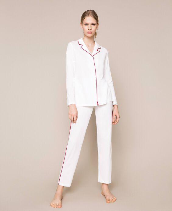 Pyjama mit Kontrastdetails