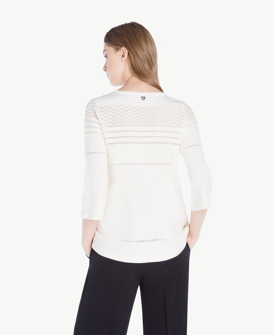 Viscose top Light Ivory Woman PS8364-03