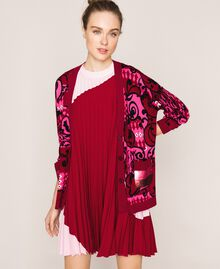 Printed cardigan with sequins Superpink Liberty Print Woman 201ST3162-05