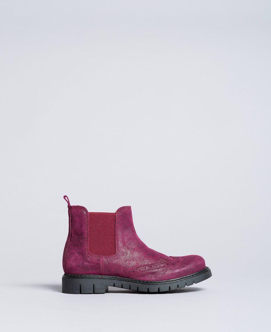 "Beatle-Boots aus Leder in Glanzoptik ""Sweet Grape""-Violett Kind HA88EA-02"