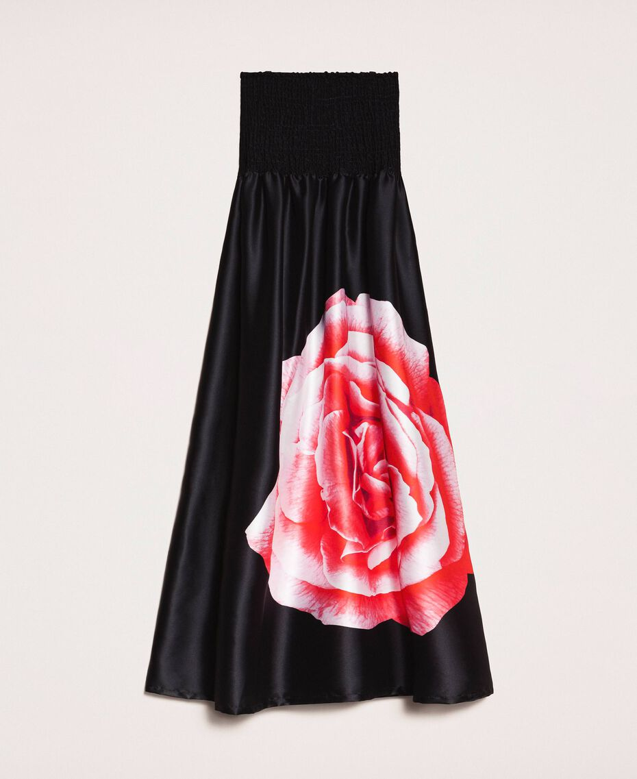 Long dress with print Black Rose Print Woman 201LB28SS-0S