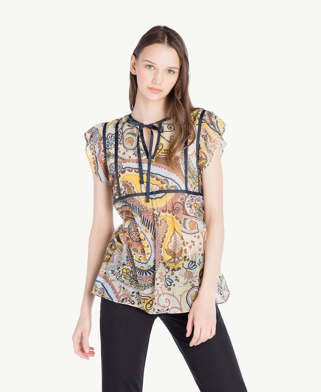 Printed top Paisley Print Woman SS82MB-01