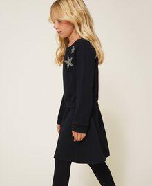 Robe en molleton avec étoile Noir Enfant 202GJ261C-02