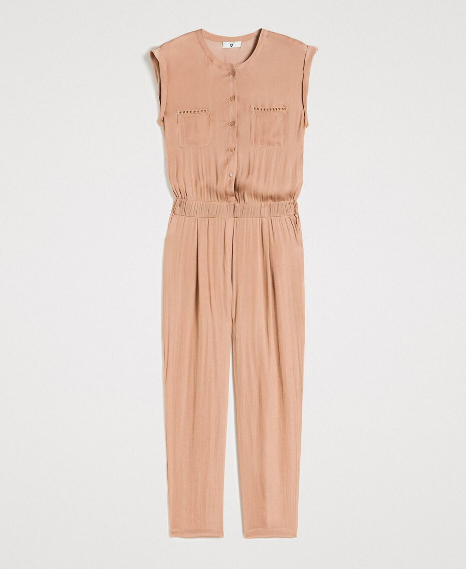 """Long jumpsuit with elasticated waistband """"Petra Sandstone"""" Brown Woman 191LM2GDD-0S"""