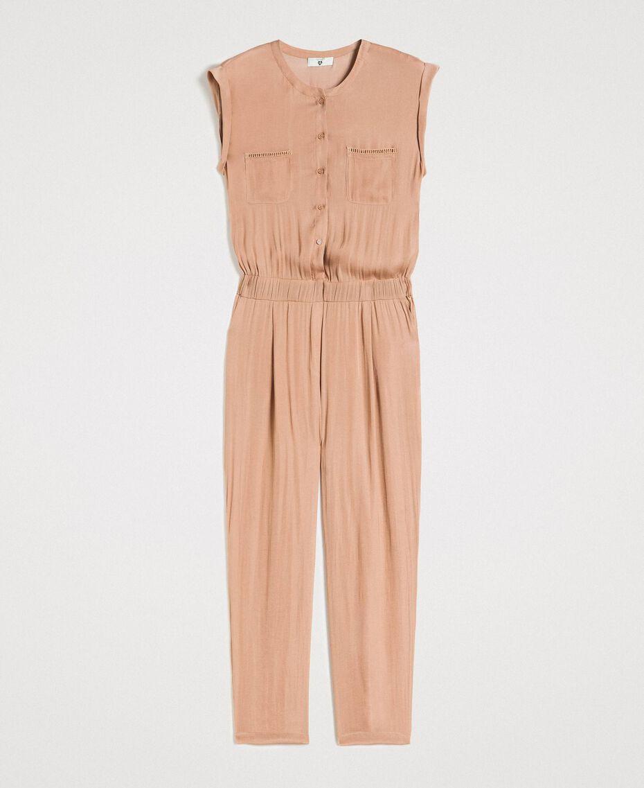 """Langer Jumpsuit mit elastischem Taillenband """"Petra Sandstone"""" Braun Frau 191LM2GDD-0S"""