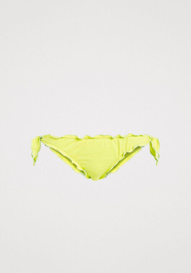 Bas de bikini tanga avec nœuds et volants