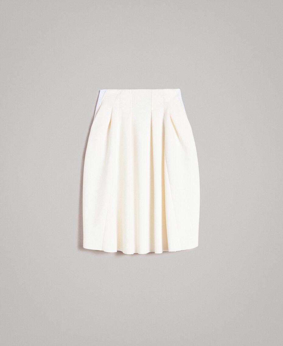 """Full scuba skirt """"Silk"""" White Woman 191TP2065-0S"""