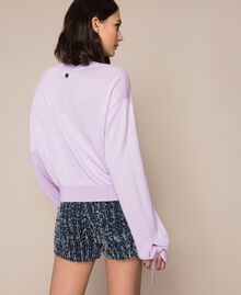 "Cashmere blend boxy jumper ""Ballerina"" Purple Woman 201TP3011-03"
