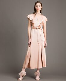 "Long dress with belt ""Nude"" Beige Woman 191TP269B-01"