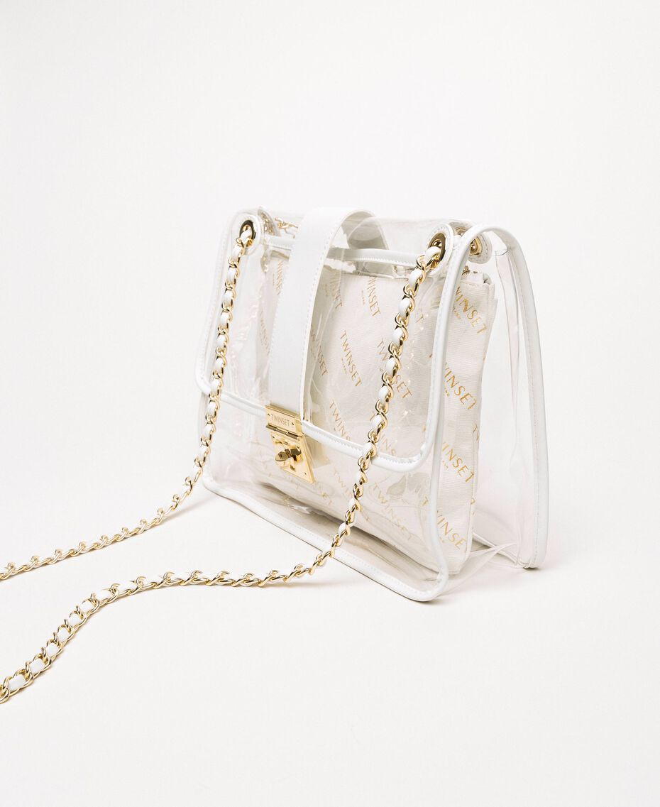 Large shoulder bag with pochette White Woman 201TA7181-01
