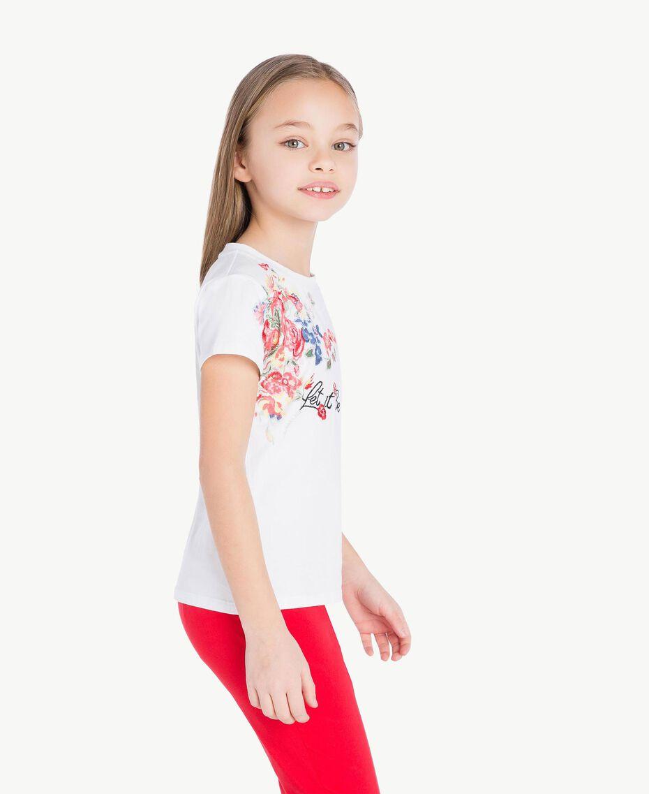 """T-shirt imprimé Blanc """"Papers"""" Enfant GS82SP-03"""