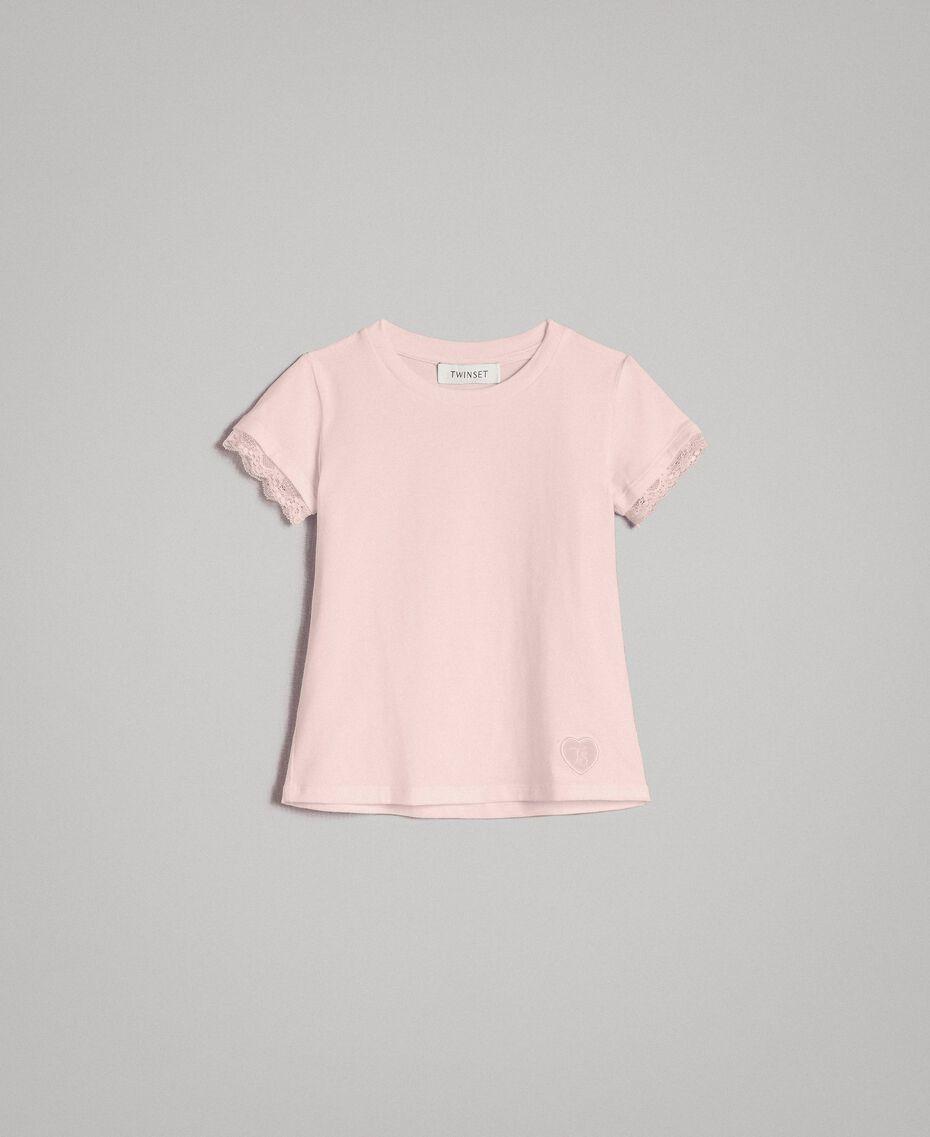 T-shirt en jersey orné de dentelle Rose En fleur Enfant 191GB2180-01