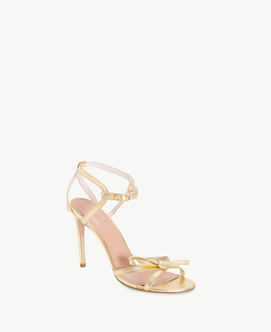 TWINSET Sandales lamées Platine Femme CS8TDG-02