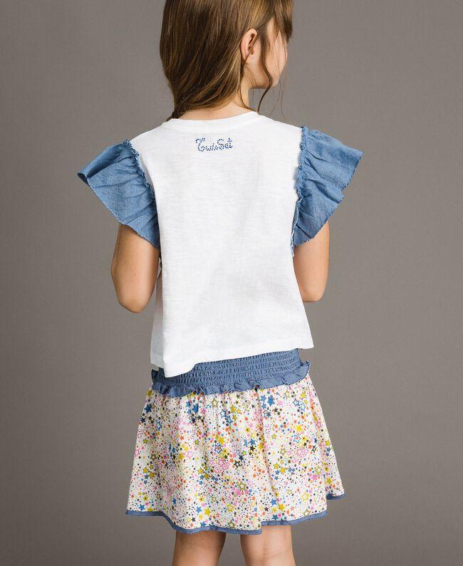 T-shirt en jersey et détails en batiste Blanc Enfant 191GJ2650-03