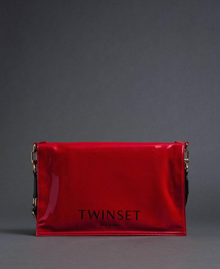 Большая складная сумка-шоппер из искусственной кожи Красный Гранат женщина 192TA7173-03