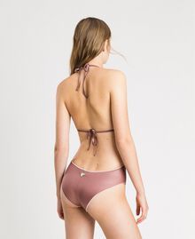 "One-piece swimsuit with embroidery ""Bronze Powder"" Brown Woman 191LBM100-03"