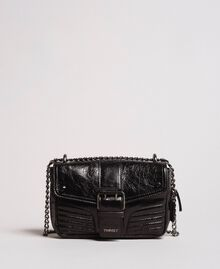 Rebel leather shoulder bag Black Woman 191TA7237-04