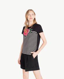 T-Shirt mit Streifen Schwarz Frau TS829U-02