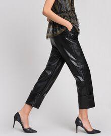 Pantaloni in similpelle Nero Donna 192TP2060-01