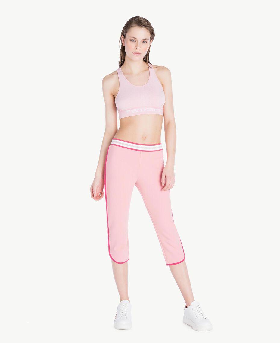 Leggings aus Scuba Pinkie Sugar Frau LS82EE-02