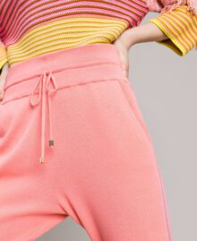 """Cashmere blend jogging trousers """"Wild Rose"""" Pink Woman 191TP3067-04"""