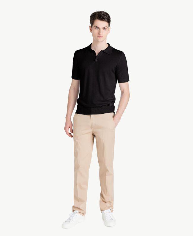 Pullover aus Baumwolle und Kaschmir Schwarz Mann US831C-05