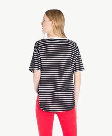 T-shirt rayures Rayure Noir / Blanc Optique Femme JS82RH-03