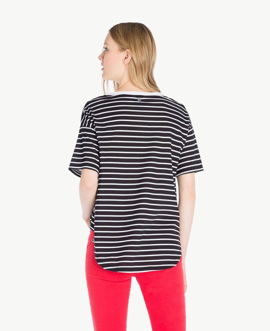 Striped T-shirt Black Stripe / Optical White Woman JS82RH-03
