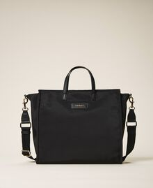 Атласная сумка-шоппер Twinset Bag с плечевым ремнем Черный женщина 202TB7200-01
