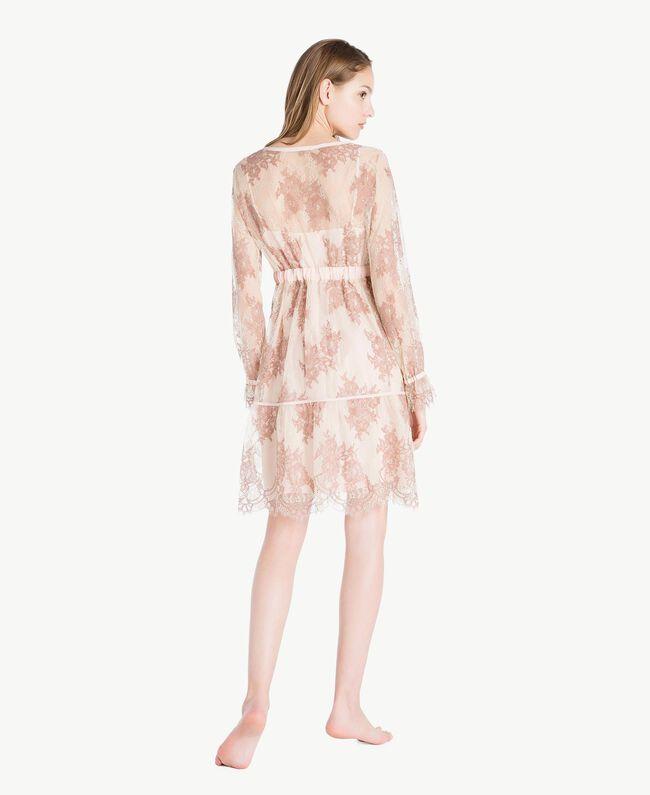 "Lace nightdress ""Dusty Cream"" Beige Lace Woman LS8FGG-04"