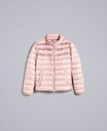 "Short shiny nylon padded jacket with ruches ""Dance"" Pink Woman PA82GS-0S"