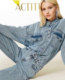 """Camicia in jeans Blu """"Denim Medio"""" Donna 212AP2391-01"""