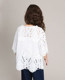 Muslin blouse with broderie anglaise embroidery White Child 191GJ2622-03