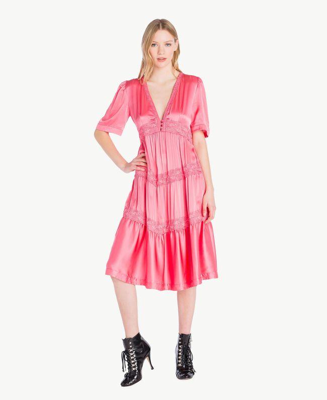 Robe soie Fuchsia «Poupée» Femme PS825B-01