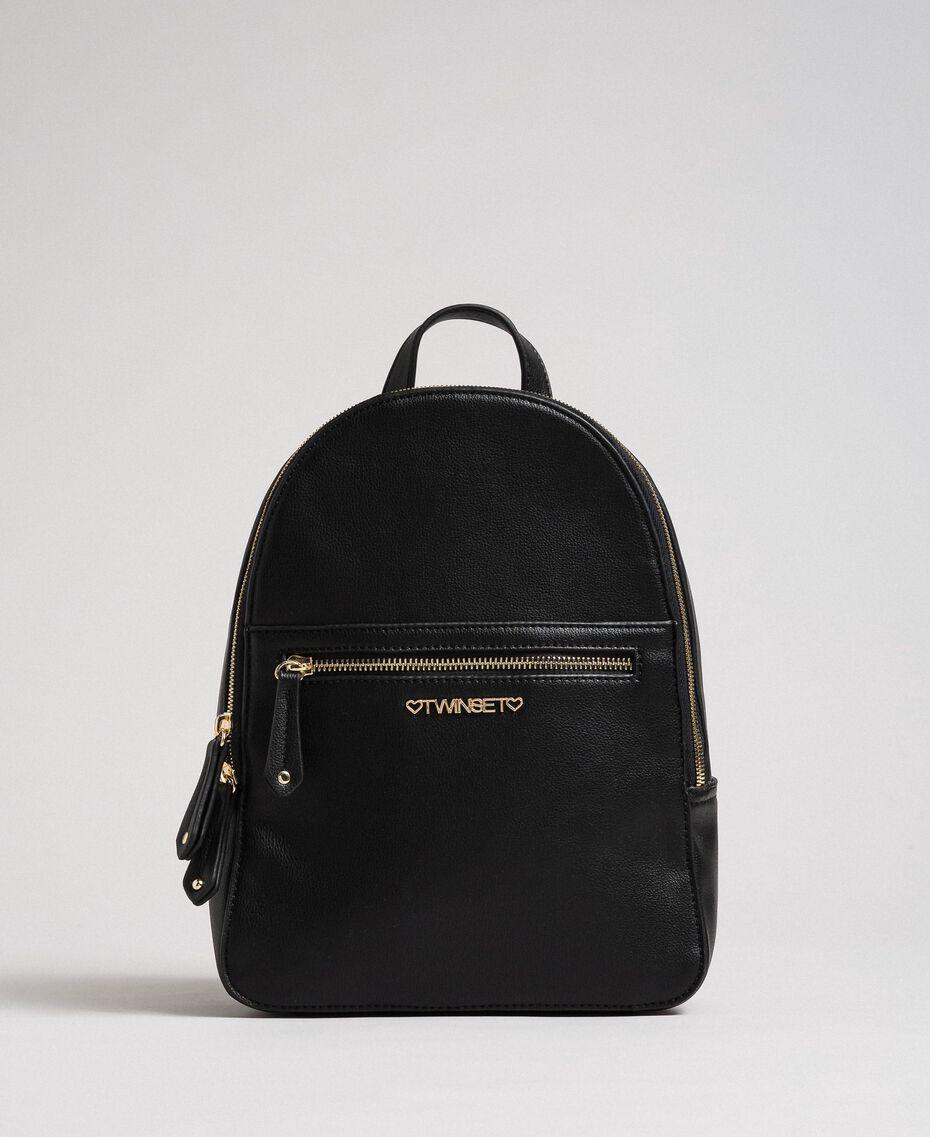Рюкзак из искусственной кожи с логотипом Черный Pебенок 999GJ7017-02